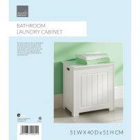 Bathroom Laundry Cabinet White