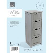 4 Drawer Bathroom Cabinet Grey