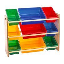 Kid's Toy Organiser with 9 Storage Bins