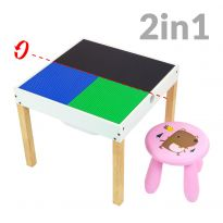 2 In 1 Activity Storage Table With 1 Stool