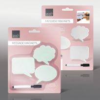 3Pcs Message Magnets