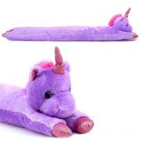 Unicorn Plush Door Stopper - Purple