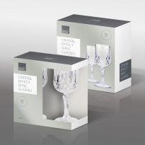 2Pcs Crystal Effect Wine Glasses