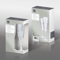 Crystal Effect Champagne Flute Glasses