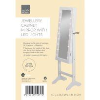 Floor Standing Jewellery Organiser - White