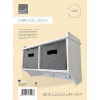 2 Bin Wall Rack