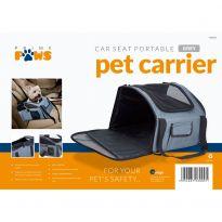 Portable Car Seat Pet Carrier - Grey