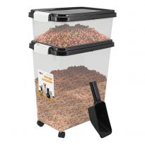 Black - Pet Food Storage Bin
