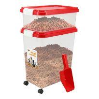 Red - Pet Food Storage Bin