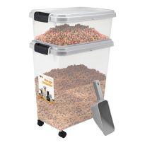 Grey - Pet Food Storage Bin