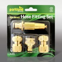 4Pc Brass Hose Fitting Set