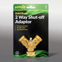 Solid Brass 2 Way Shut-Off Adaptor