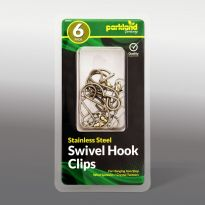 6Pk Stainless Steel Swivel Hook Clips
