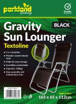Folding Zero Gravity Outdoor Chair - Black