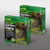 10Pk Cobbled Stone Garden Edging With Led Lights