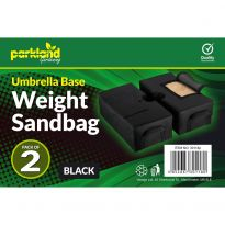2Pk Umbrella Base Weight Sandbag -Black