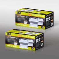 White - 2 Pack Solar Deck Cap Lights