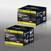 Solar Hanging Shed Light - Black