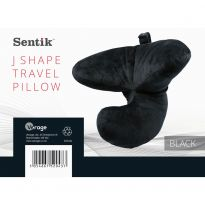 J Shape Travel Pillow - Black