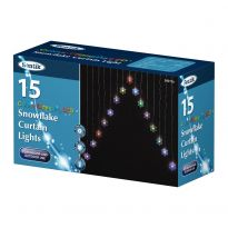 Lv 15Pc Snowflake Curtain Light - Colour Changing