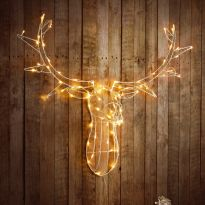 80 LED Stags Head - Warm White LED