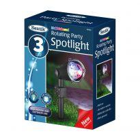 3Led Rotating Party  Spotlight - Multi Coloured