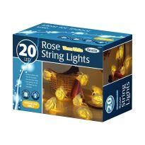 20Led Rose String Lights - Warm White Led