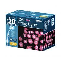20 LED Rose String Lights - Pink LED