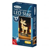 17Led Light Up Wooden Reindeer Light - Warm White Led