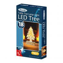 18Led Light Up Wooden Xmas Tree - Warm White Led