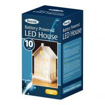 B/O 10Led Light Up House Light - Warm White Led
