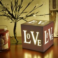 3 LED Light Up LOVE Box  - Warm White LED