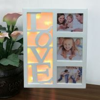 10 LED LOVE Photo Frame - Warm White LED