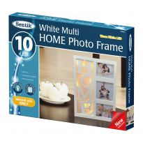 "B/O 10Led ""Home"" Photo Frame - Warm White Led"