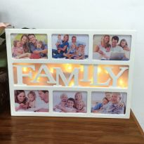 10 LED FAMILY Photo Frame - Warm White LED