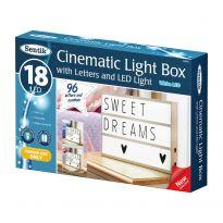 Cinematic Lightbox With Letters & Led Light - White Led
