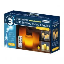 3Pk Flameless Candle With Remote Control - Yellow Led