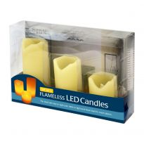 Set Of 3 Flameless Candles - Yellow