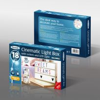 Cinematic Lightbox With Letters & Led Light - Colour Edition