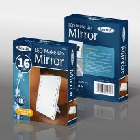 16 LED Make Up Mirror - White