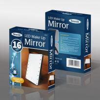 16 LED Make Up Mirror - Black