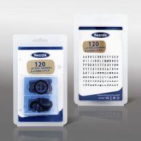 120 Extra Letter, Number & Symbols - Black