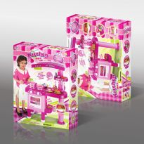 69Pc Kitchen Play Set - Pink