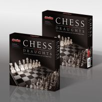 2 in 1 Glass Chess & Checkers