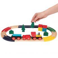 19pc Wooden Train Set