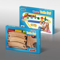 19pc Wooden Train Set