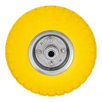 """Yellow - 10"""" x 3.50-4 Penumatic Wheel with Rim"""
