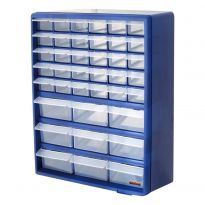 Blue - 39 Drawer Multi Tools Storage Organizer