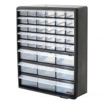 Black - 39 Drawer Multi Tools Storage Organizer
