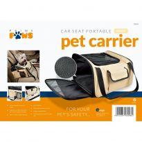 Portable Car Seat Pet Carrier - Beige